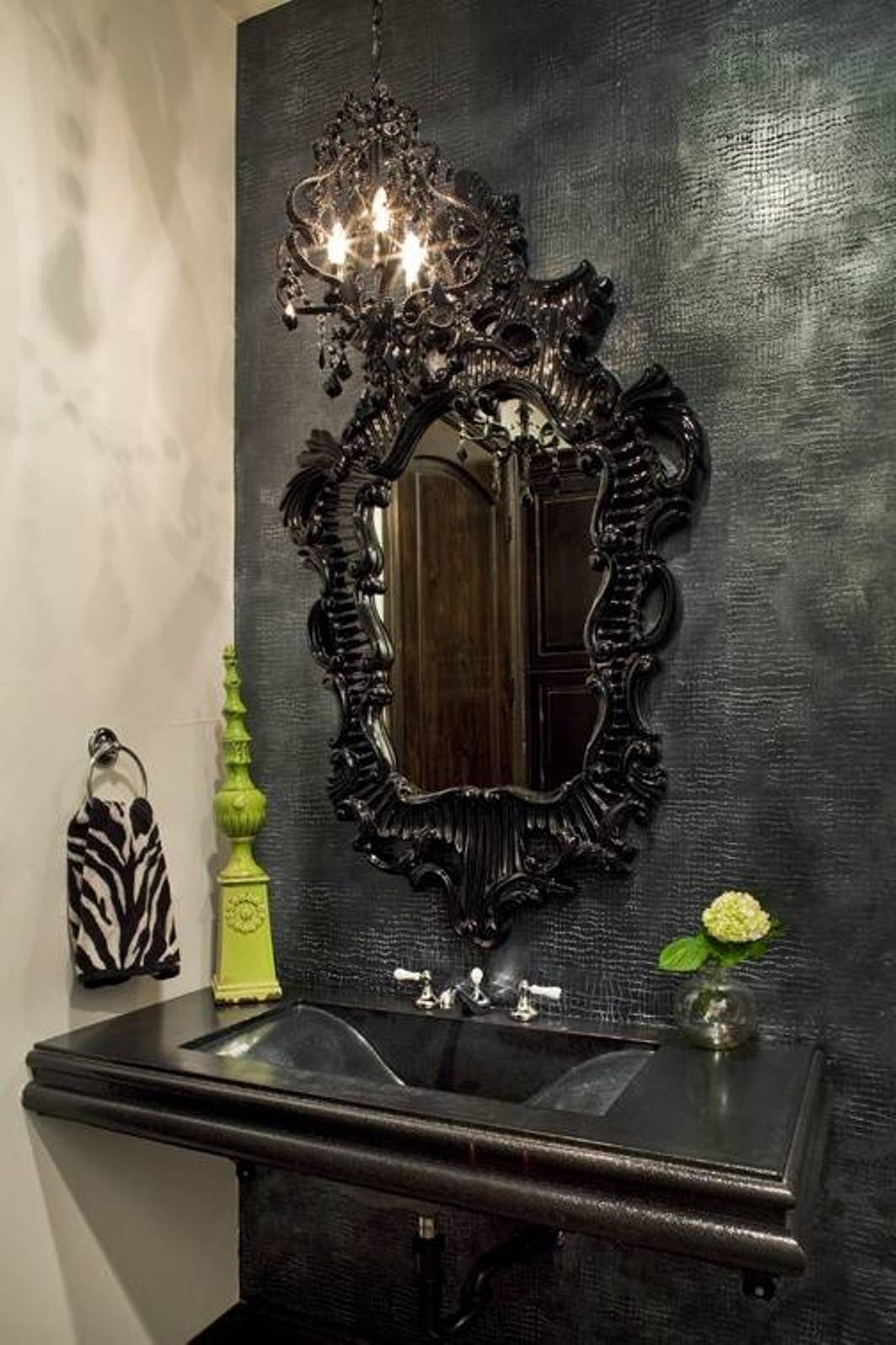 Best Gothic Black Mirrors | Home Decor Ideas with Black Ornate Mirrors (Image 2 of 15)