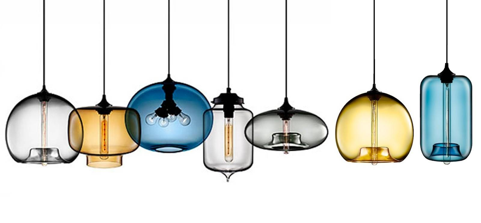 Best Hand Blown Glass Pendant Lights 25 For Pendant Lights For within Blown Glass Kitchen Pendant Lights (Image 7 of 15)