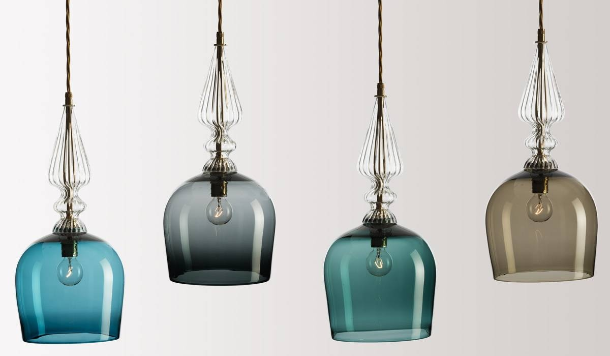 Best Hand Blown Pendant Lights 99 With Additional Red Pendant inside Coloured Glass Pendant Light (Image 1 of 15)
