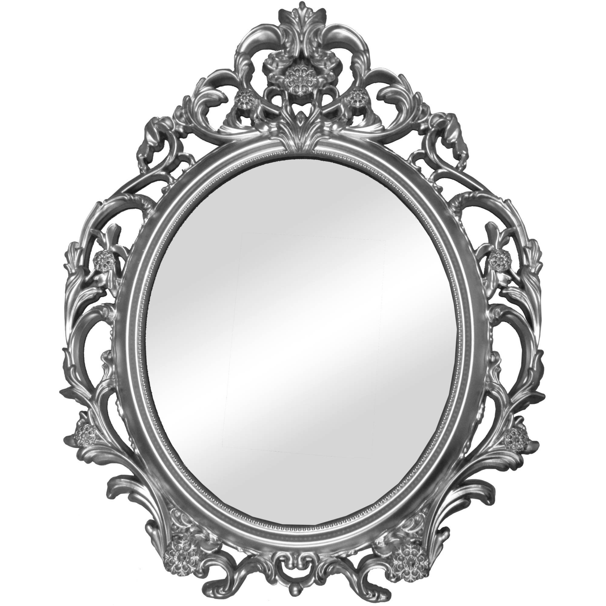 Better Homes And Gardens Baroque Wall Mirror - Walmart intended for Silver Baroque Mirrors (Image 4 of 15)