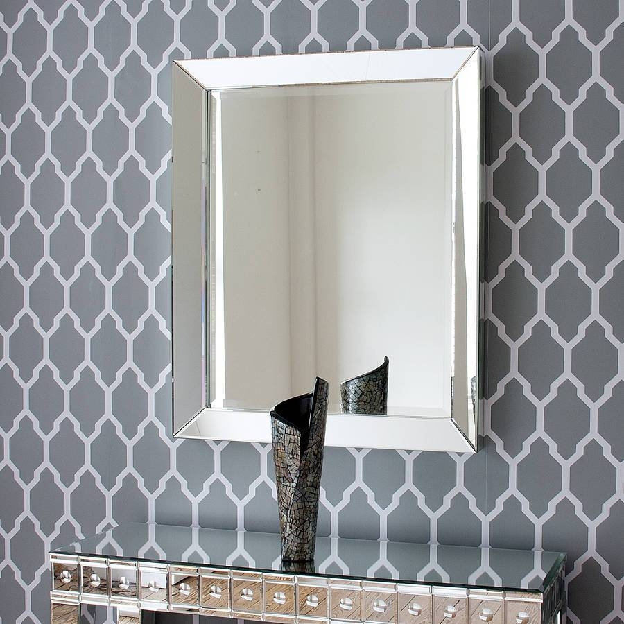 Bevelled All Glass Mirrordecorative Mirrors Online Inside Bevelled Glass Mirrors (View 5 of 15)