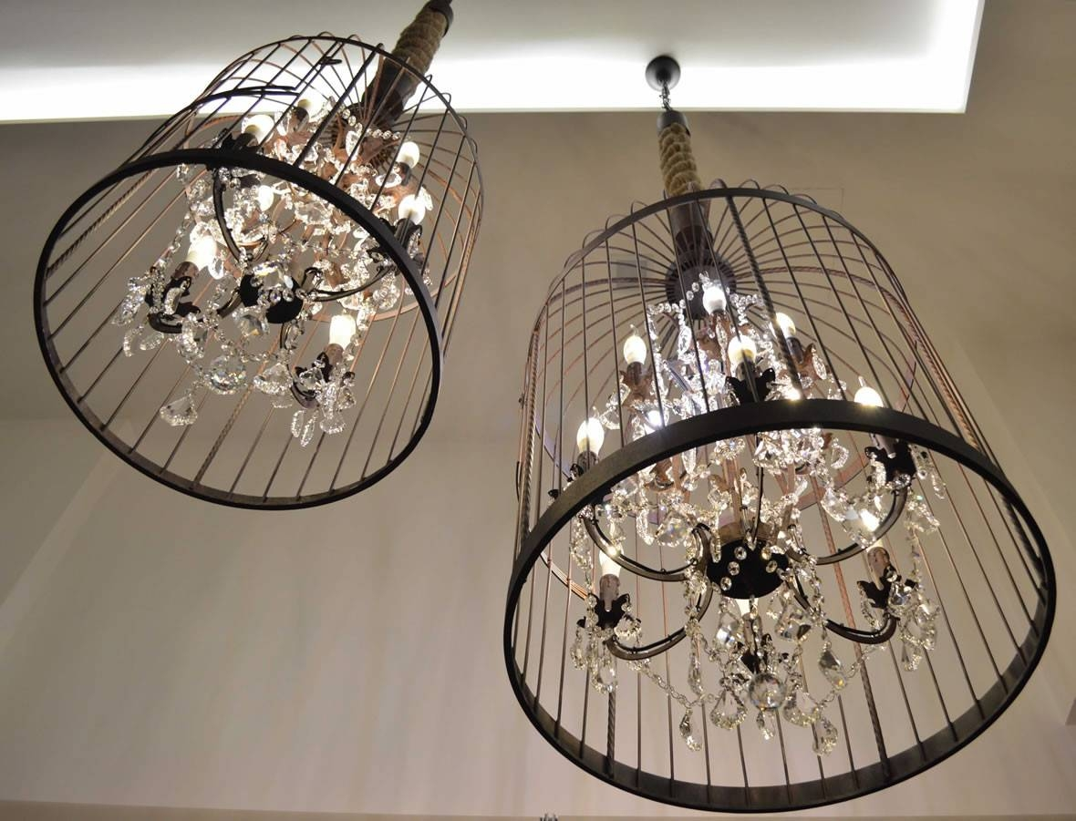Birdcage Chandelier : Beautiful And Popular Birdcage Chandelier for Birdcage Lights Fixtures (Image 10 of 15)