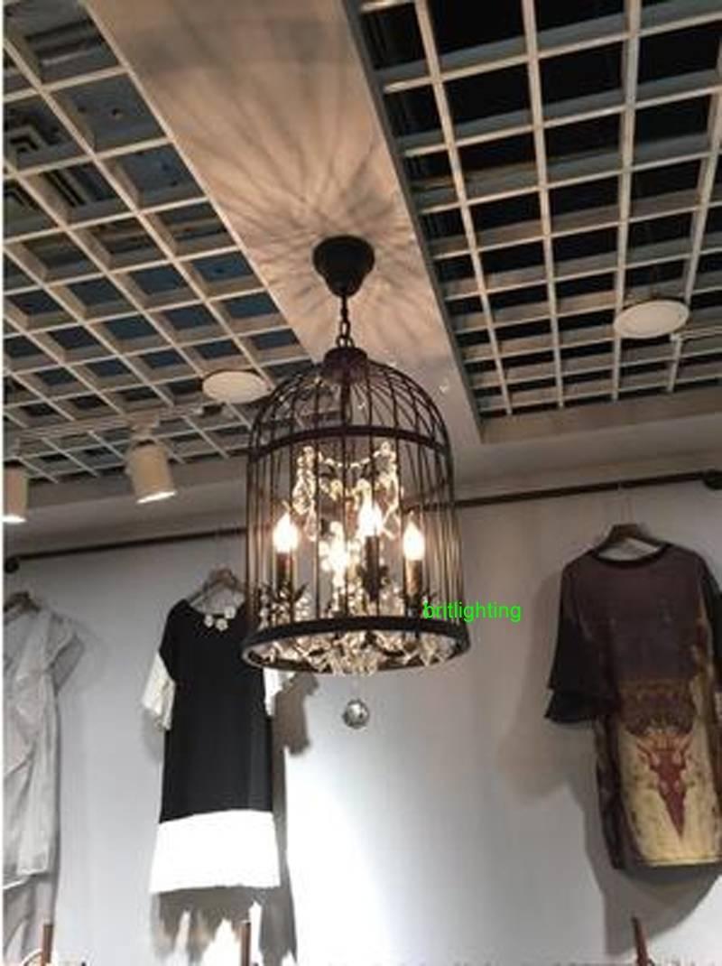 Birdcage Pendant Light Kitchen Vintage Pendant Light Birdcage regarding Wrought Iron Pendant Lights for Kitchen (Image 4 of 15)