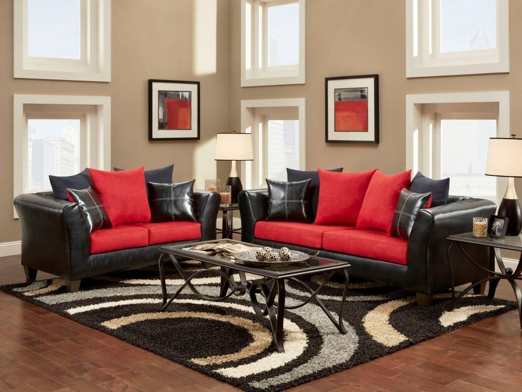 Black And Red Sofa Set 95 With Black And Red Sofa Set Intended For Black And Red Sofa Sets (View 9 of 15)