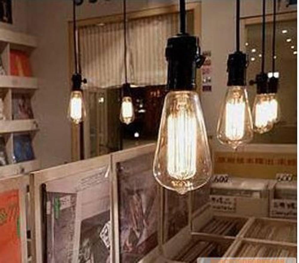 Black Bare Bulb Pendant With Bulb inside Bare Bulb Pendant Lighting (Image 3 of 15)