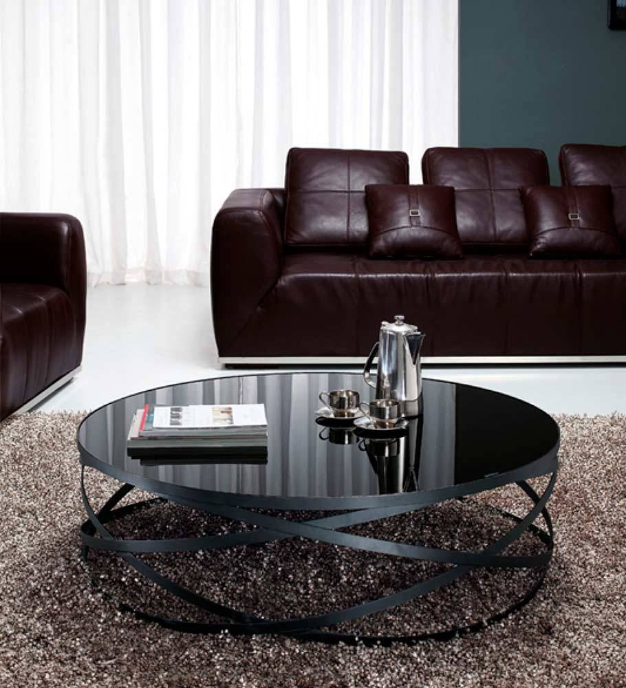 Featured Photo of Modern Black Glass Coffee Table