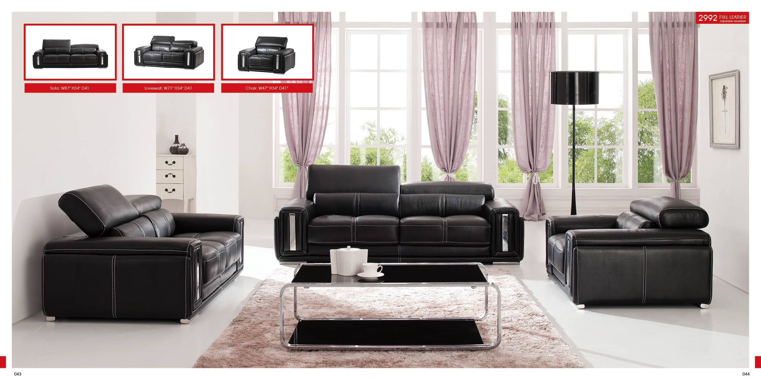 Black Leather Living Room Furniture Bonded Sofa And Loveseat Color intended for Living Room Sofa Chairs (Image 3 of 15)