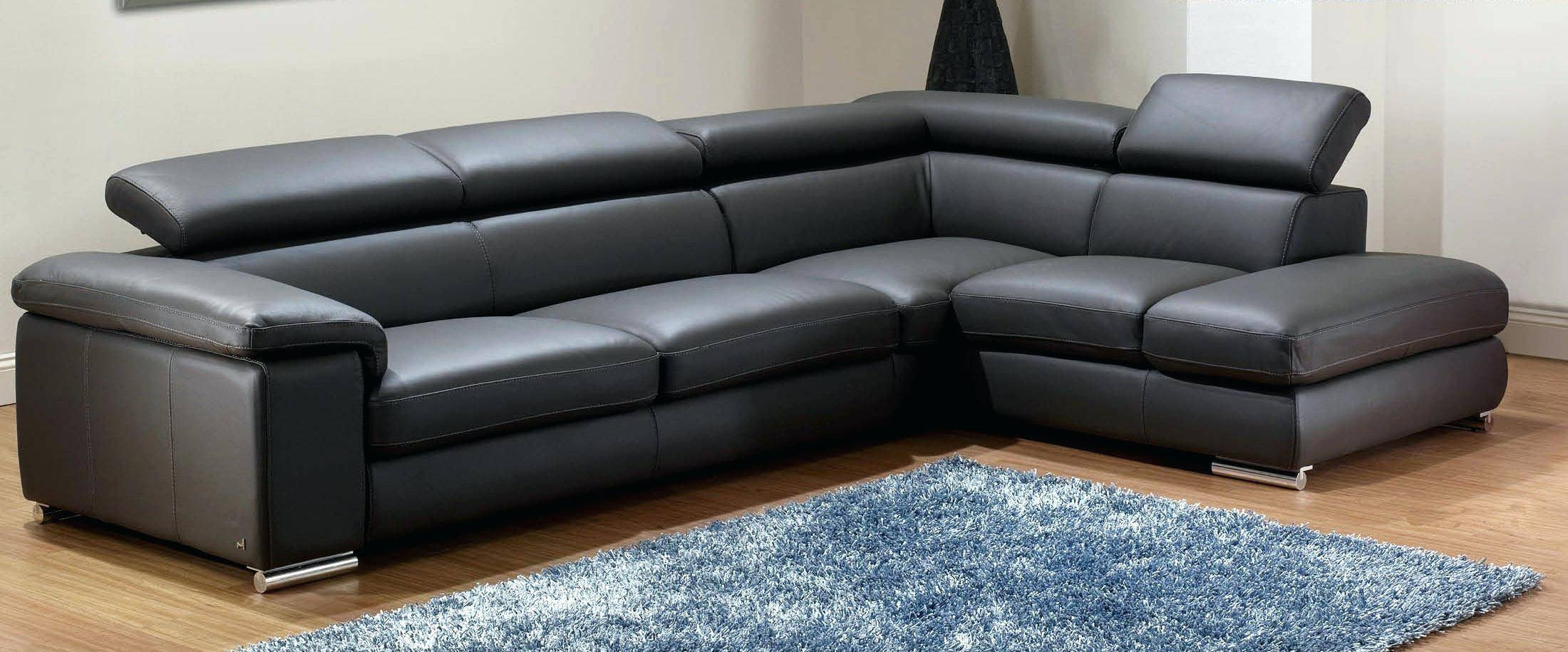 Black Leather Modern Sofa – Seedabook regarding Black Modern Couches (Image 3 of 15)