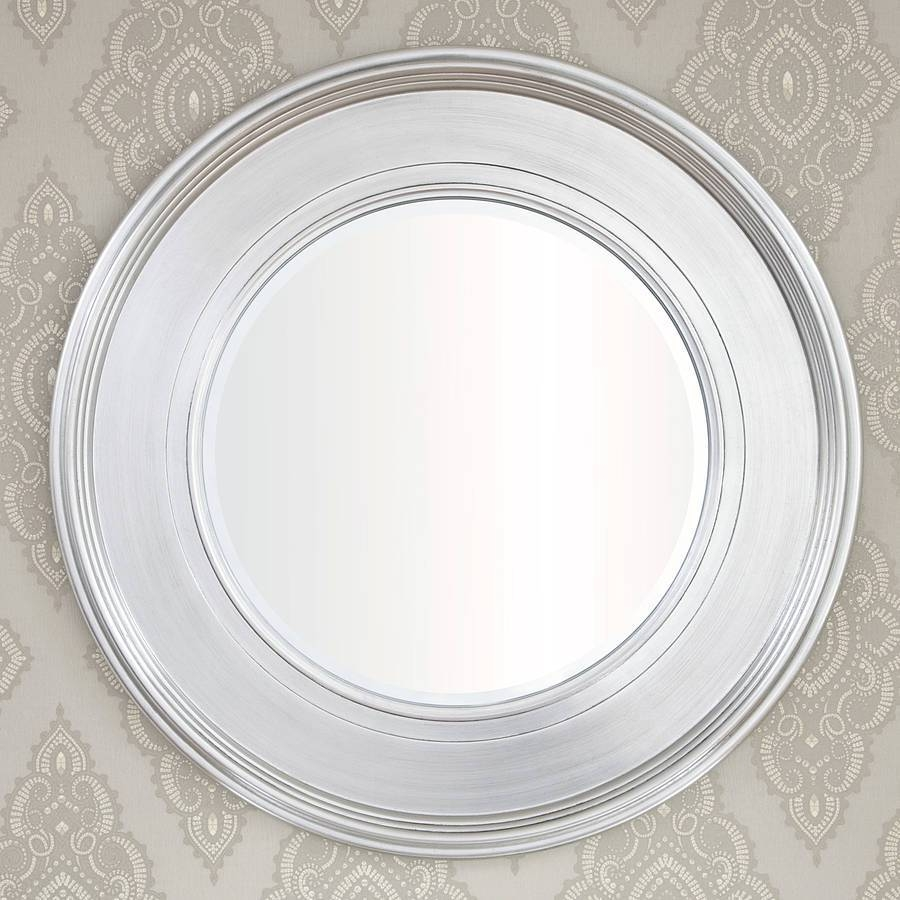 Black Silver Round Mirrordecorative Mirrors Online inside Round Silver Mirrors (Image 1 of 15)