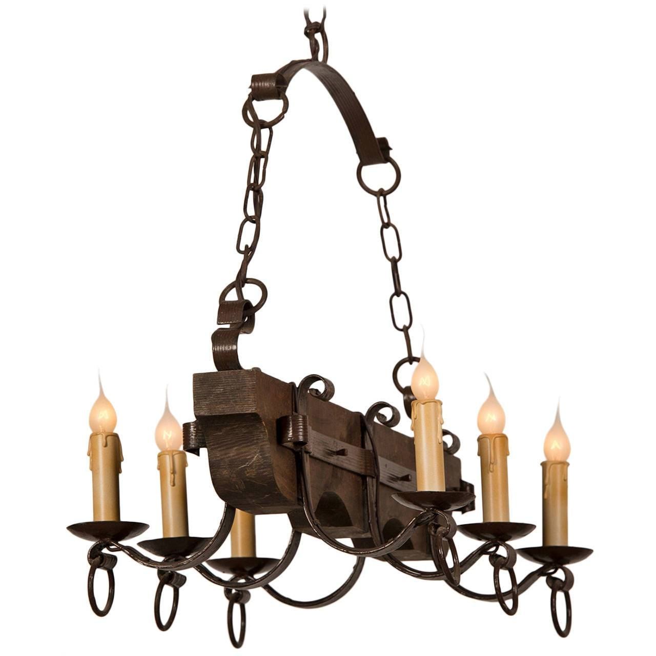 Black Wrought Iron Chandelier Lighting | Roselawnlutheran for Wrought Iron Pendant Lights for Kitchen (Image 5 of 15)