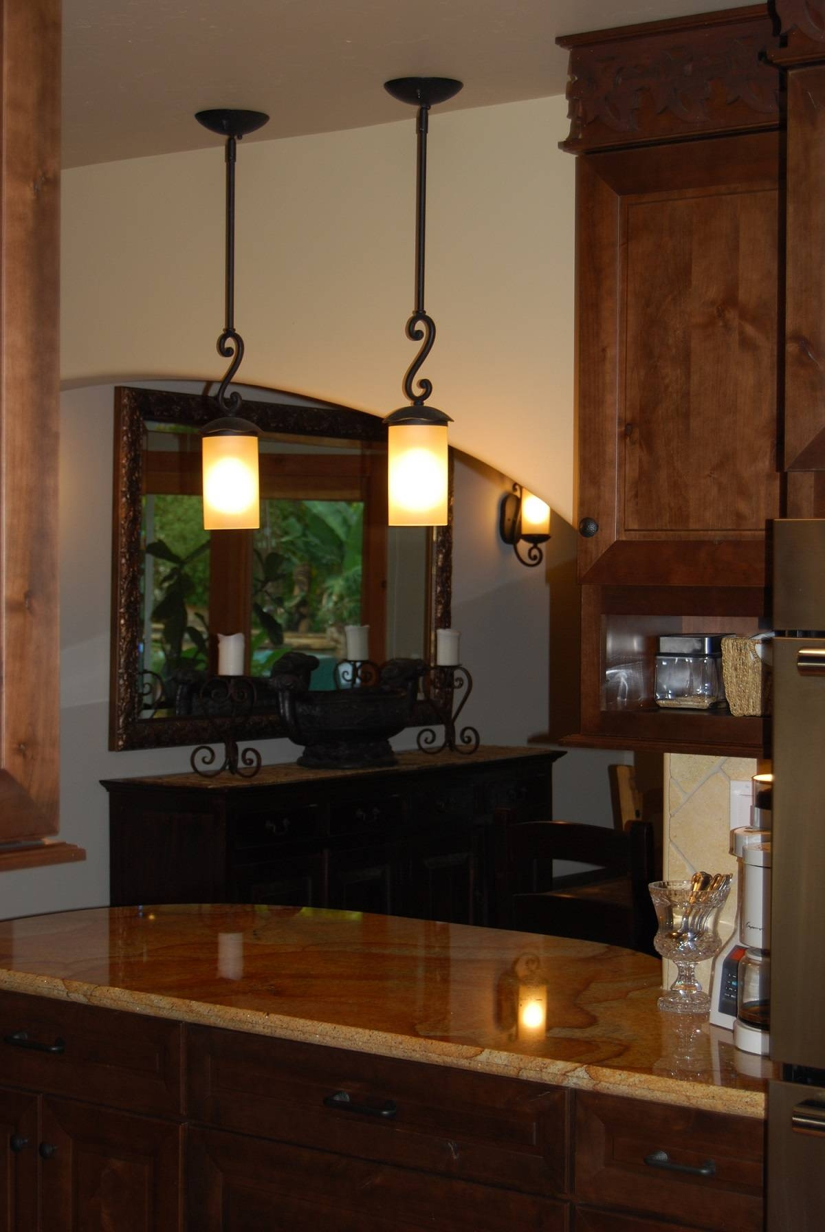 Featured Photo of Wrought Iron Pendant Lights For Kitchen