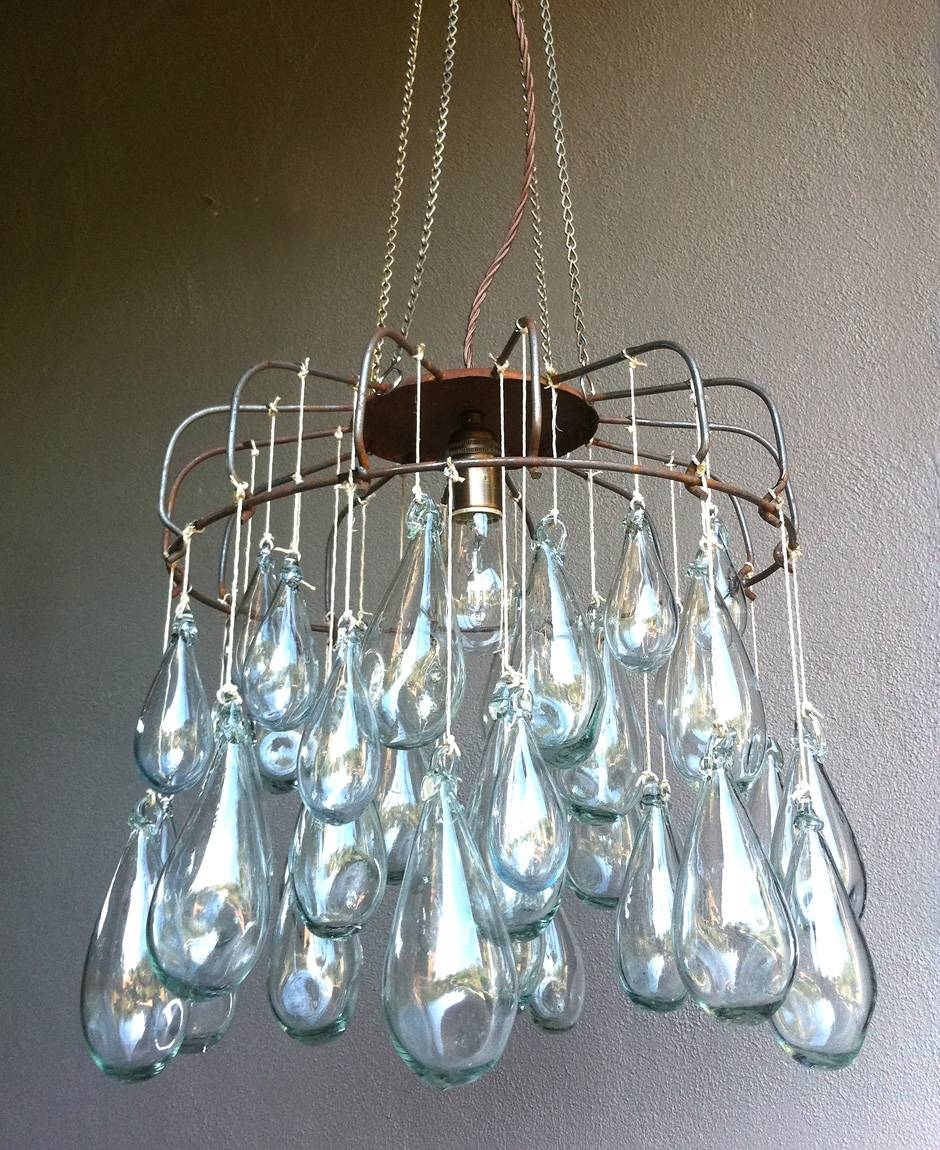 Blown Glass Lighting Chandelier – Tendr pertaining to Hand Blown Glass Lights Fixtures (Image 3 of 15)