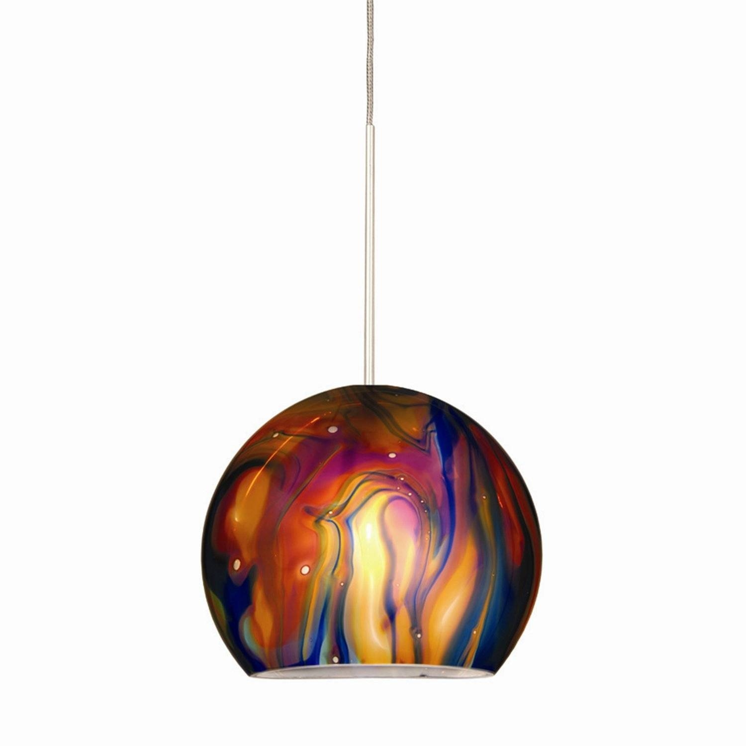Blown Glass Pendant Lights Uk | Roselawnlutheran inside Hand Blown Glass Lights Fixtures (Image 5 of 15)
