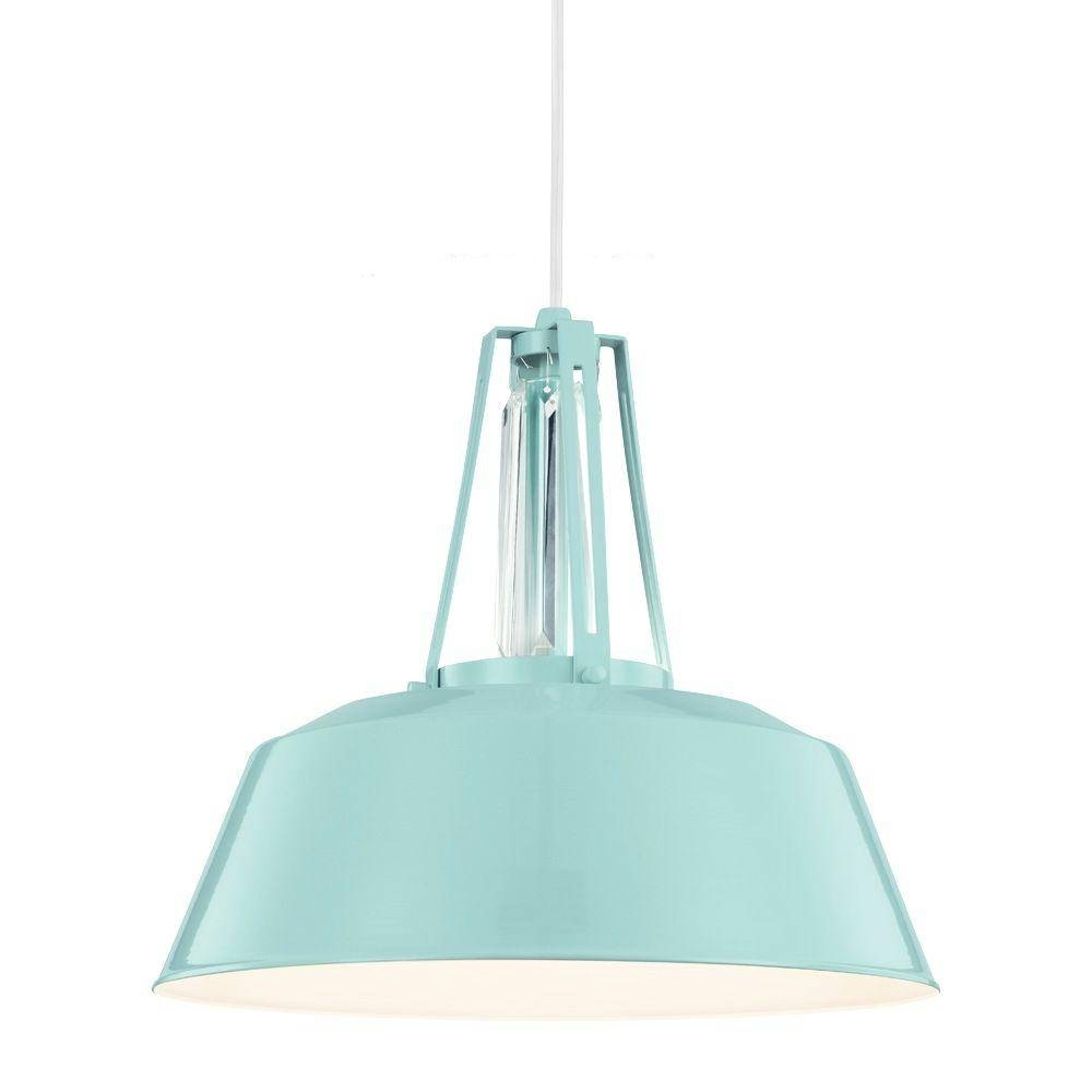 Blue - Pendant Lights - Hanging Lights - The Home Depot within Aqua Pendant Lights (Image 3 of 15)