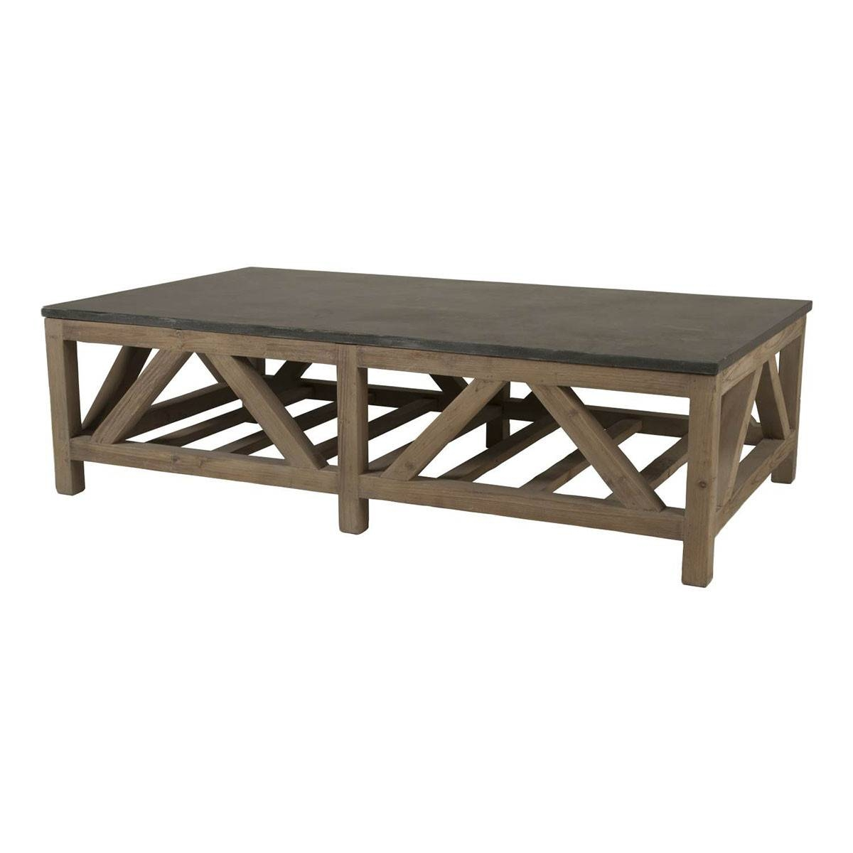 Blue Stone Coffee Table - Smoke Gray + Blue Stone intended for Stone Coffee Table (Image 2 of 15)