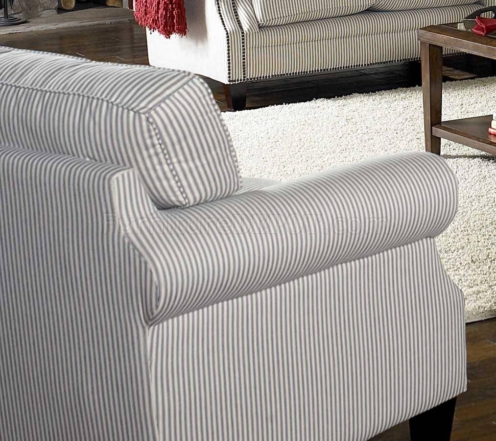 U0026amp; Blue Striped Fabric Cottage Style Sofa U0026amp; Loveseat Set With Blue  And White