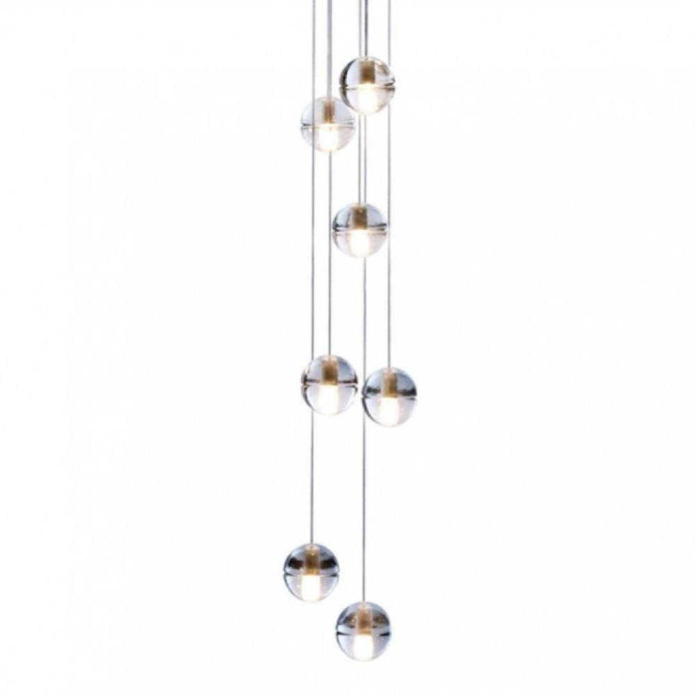 Bocci Seven Lights Pendant - 14.7 - Lighting Design, Consultancy pertaining to Glass Ball Pendant Lights Uk (Image 3 of 15)