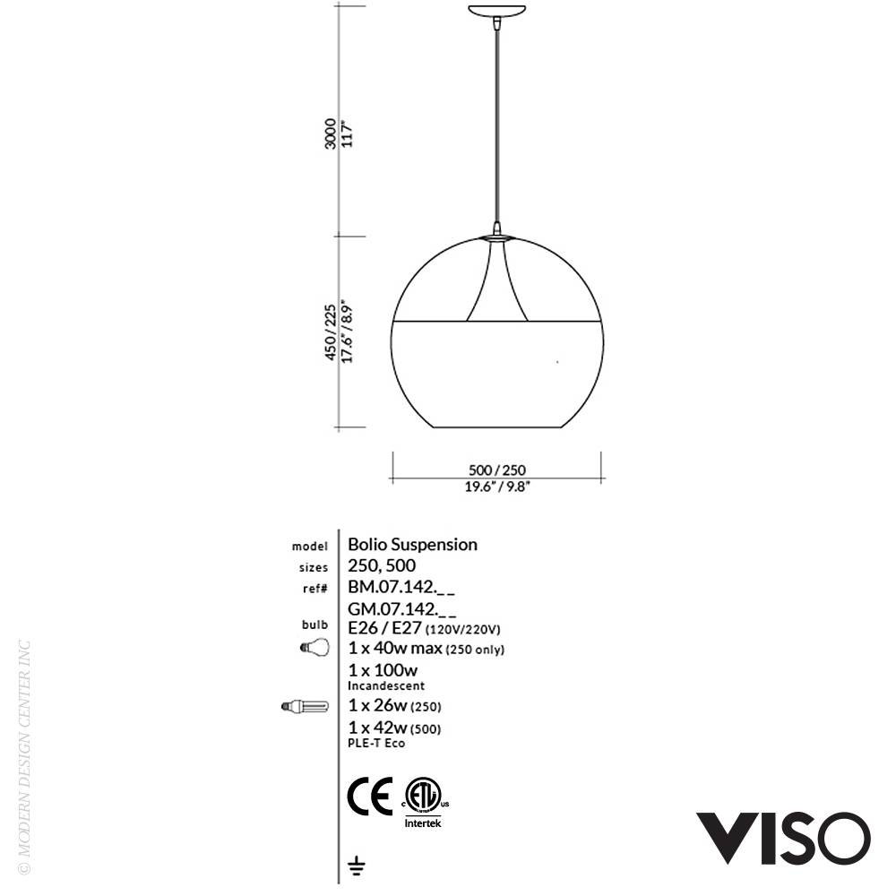 Bolio Pendant Light Inverted | Viso | Metropolitandecor inside Bolio Pendant Lights (Image 2 of 15)