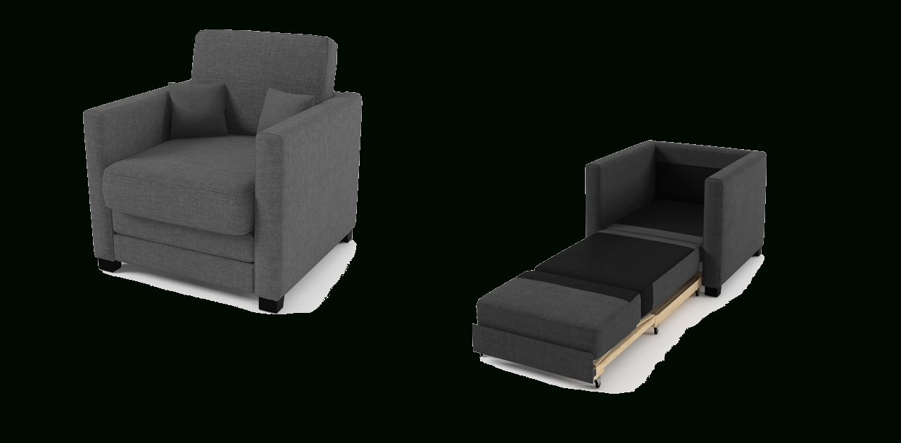 Boom Chair Sofa Bed Grey Fabric - Chairs regarding Sofa Beds Chairs (Image 2 of 15)
