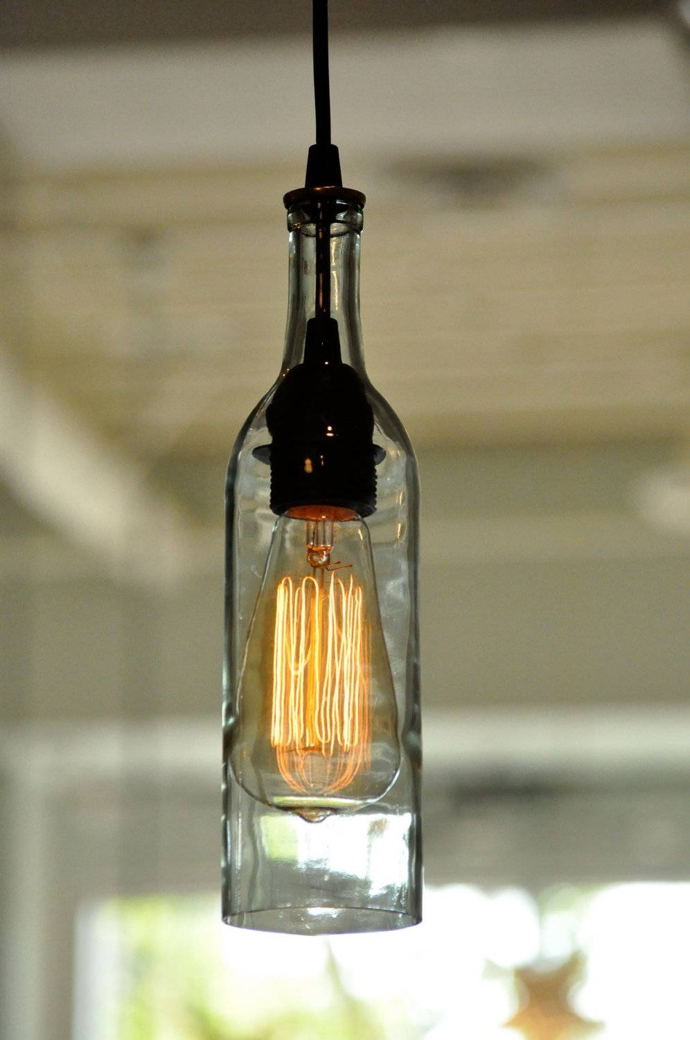 Bottle Pendant Lights - Baby-Exit pertaining to Wine Bottle Pendants (Image 1 of 15)