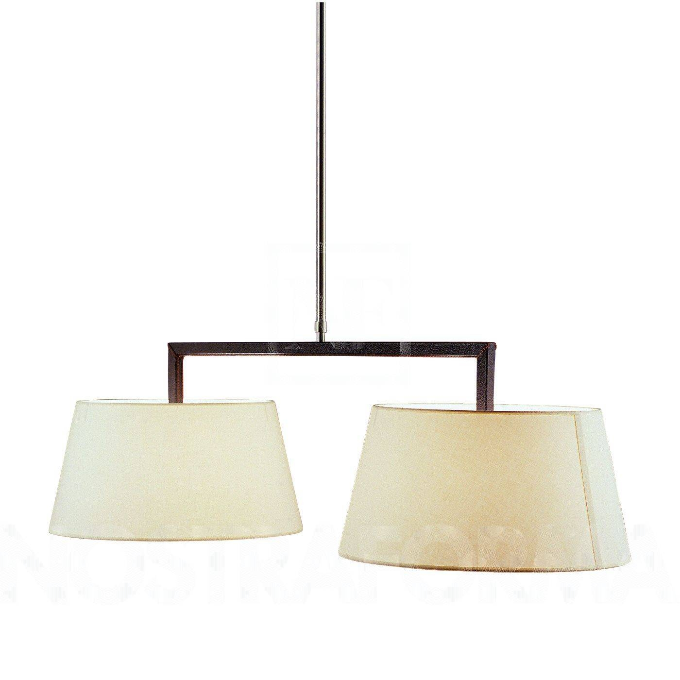 Bover Lua 2 Luces Pendant Lamp, Double » Modern And Contemporary Intended For Double Pendant Lights (View 6 of 15)