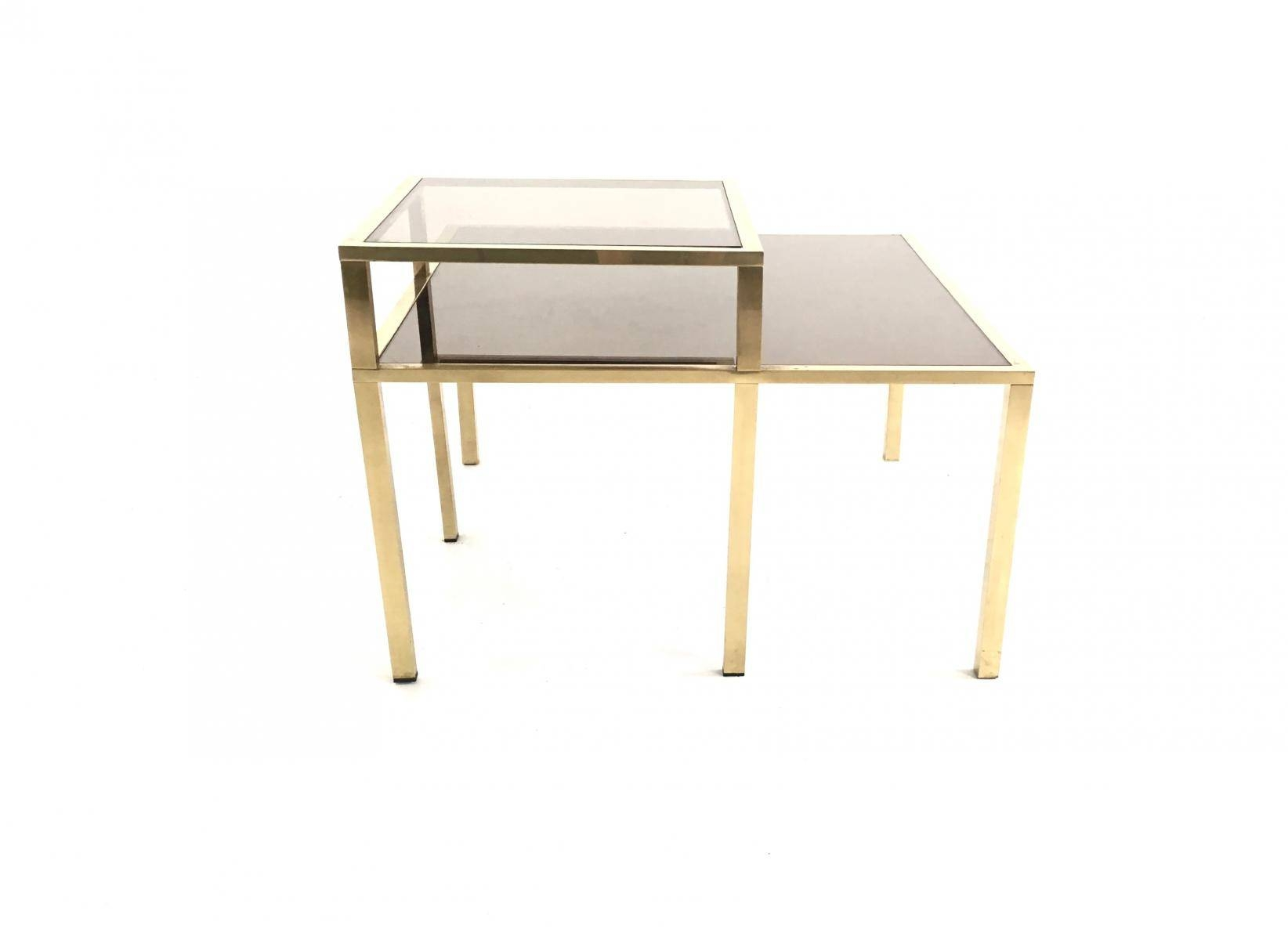 Brass, Glass, And Mirror Glass Coffee Table, 1980S For Sale At Pamono For Mirror Glass Coffee Table (View 10 of 15)