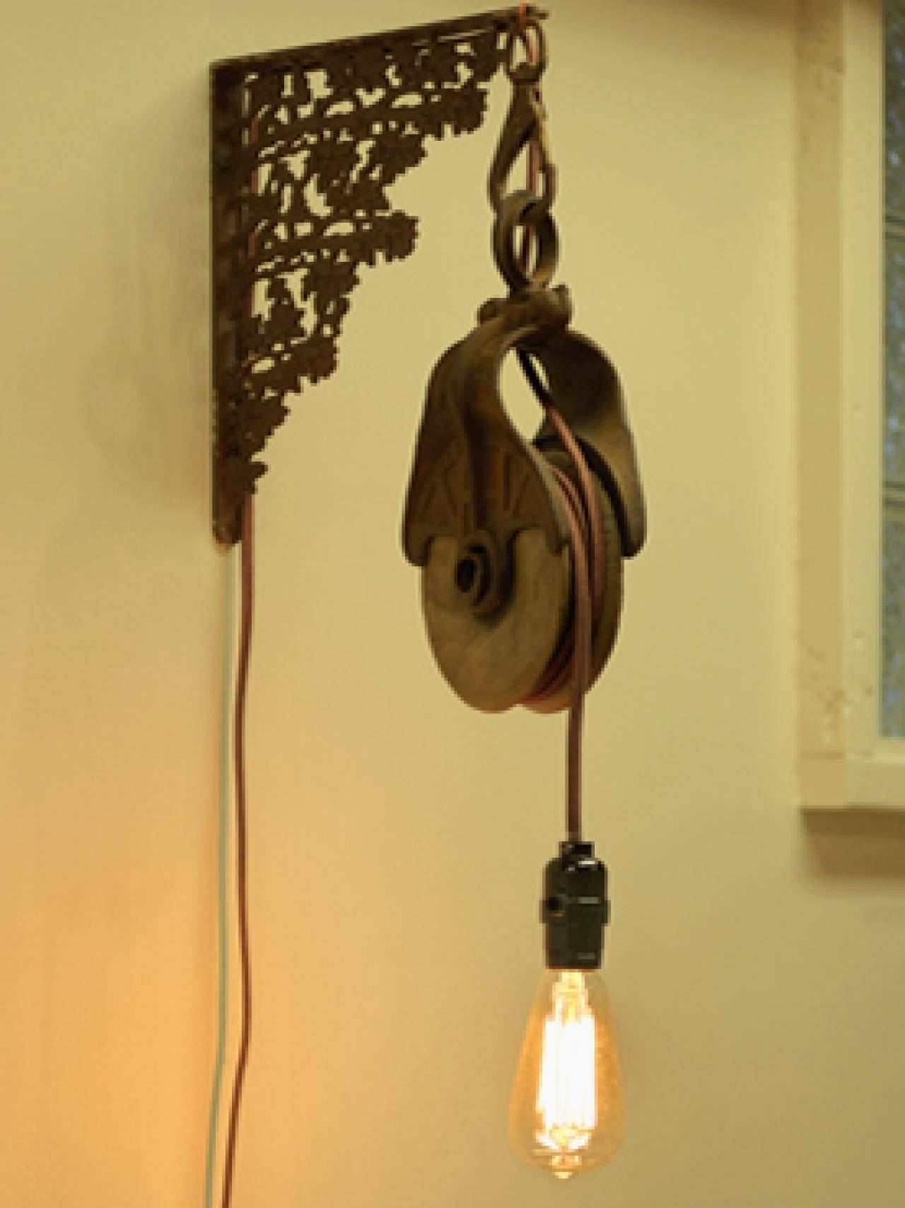 Brighten Up With These Diy Home Lighting Ideas | Hgtv's Decorating in Pulley Lights Fixtures (Image 5 of 15)