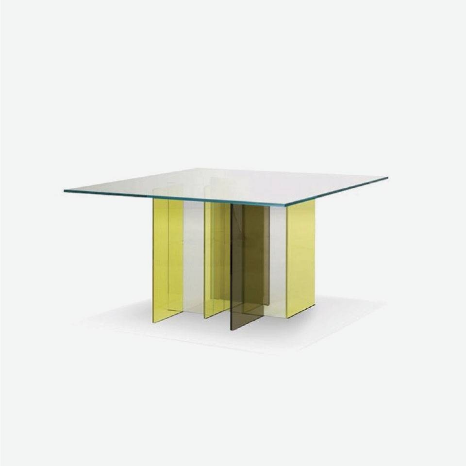 Brik Wall - Proper Dining with Thick Glass Coffee Table (Image 1 of 15)