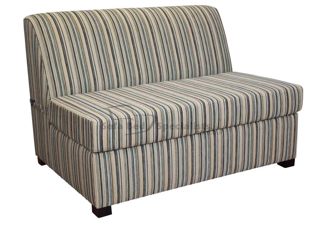 Brisbane Armless Single Sofabed – Sofa Bed Specialists Inside Single Sofa Bed Chairs (View 3 of 15)