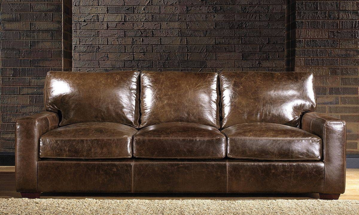 Brompton Leather Sofa | The Dump - America's Furniture Outlet throughout Brompton Leather Sectional Sofas (Image 1 of 15)