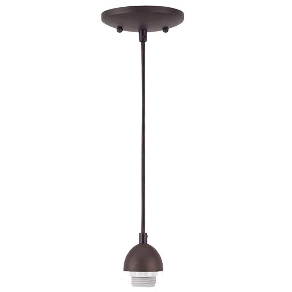 Bronze - Pendant Lights - Hanging Lights - The Home Depot regarding Oil Rubbed Bronze Mini Pendant Lights (Image 1 of 15)