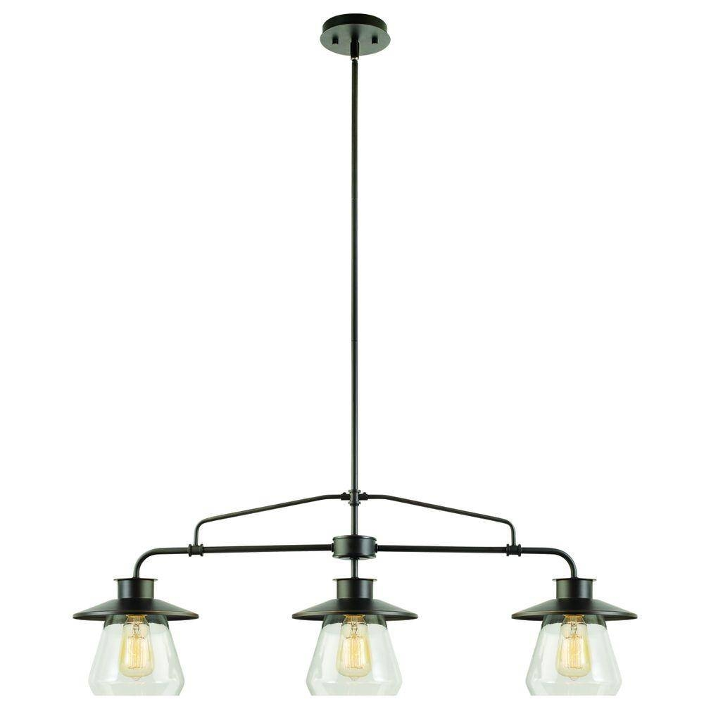 Bronze - Pendant Lights - Hanging Lights - The Home Depot regarding Oil Rubbed Bronze Pendant Light Fixtures (Image 2 of 15)