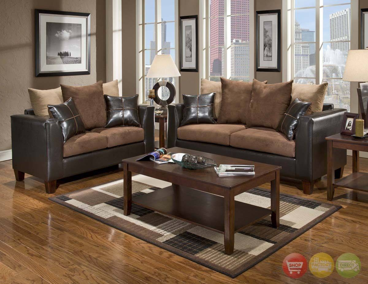 Brown Chairs For Living Room With Brown Sofa Living Room Furniture with regard to Brown Sofa Chairs (Image 7 of 15)