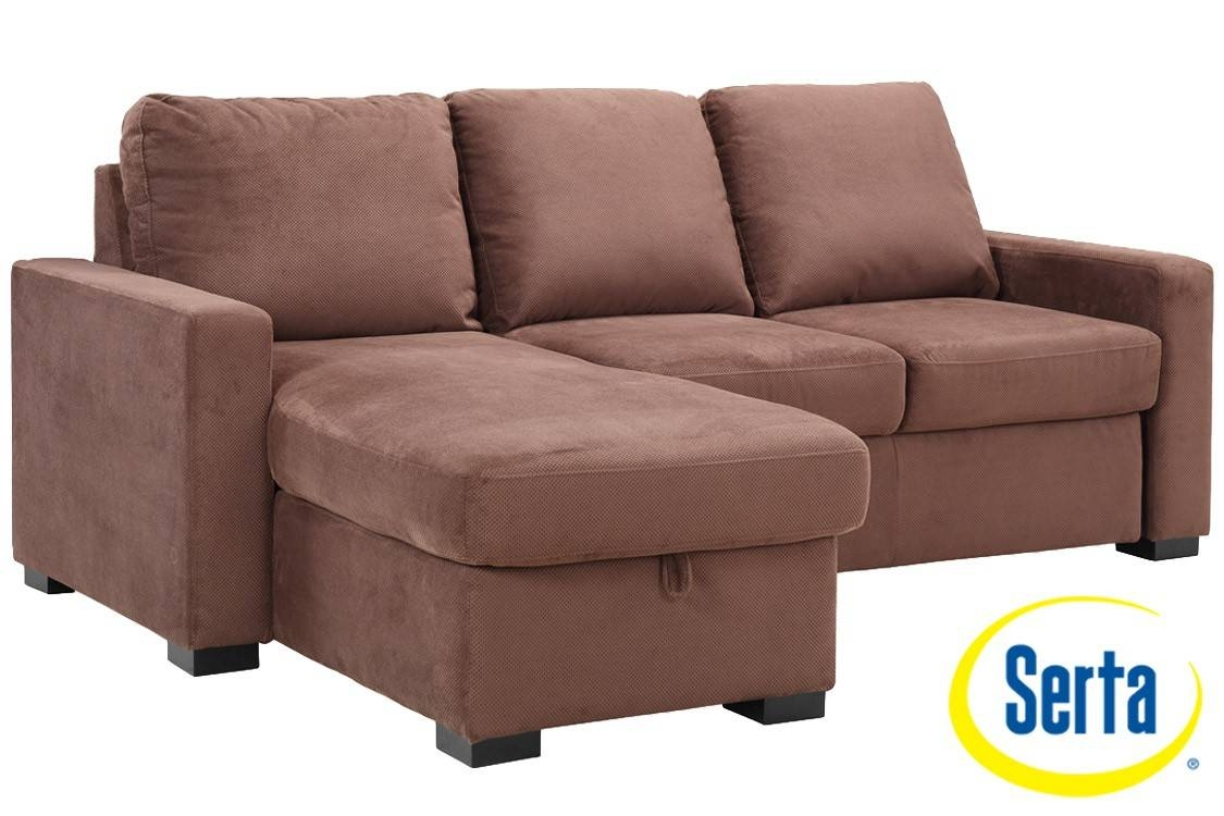 Brown Futon Sofa Sleeper |Chester Serta Dream Sleeper |The Futon Shop throughout Convertible Sofa Chair Bed (Image 4 of 15)