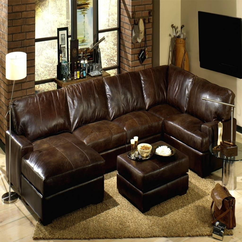 Brown Leather Sectional. Click To Zoom. Winsome Leather Sectional inside Traditional Leather Sectional Sofas (Image 3 of 15)