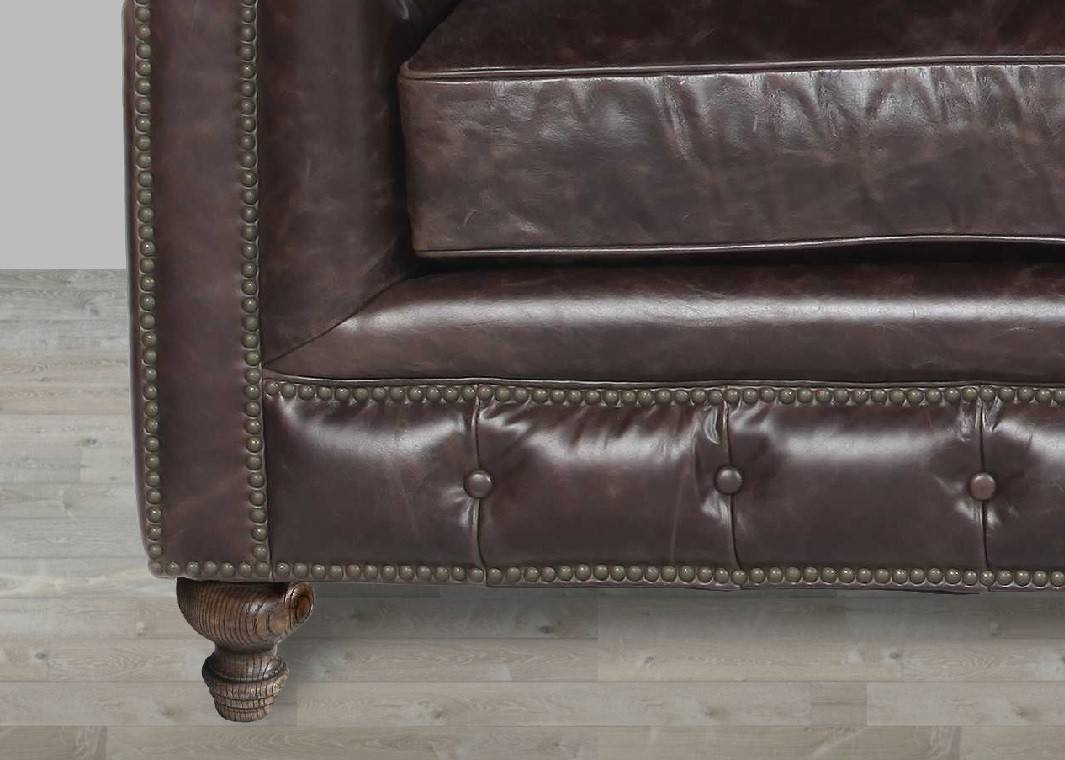 15 Photos Brown Leather Sofas With Nailhead Trim ~ Leather Sofa With Nailheads