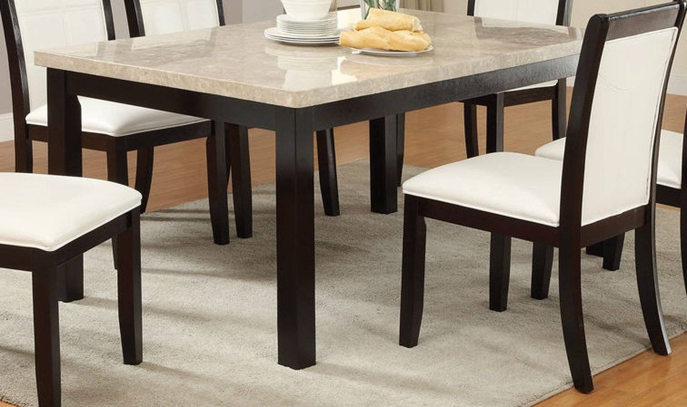 Brown Marble Dining Table - Steal-A-Sofa Furniture Outlet Los in Dining Table With Sofa Chairs (Image 4 of 15)