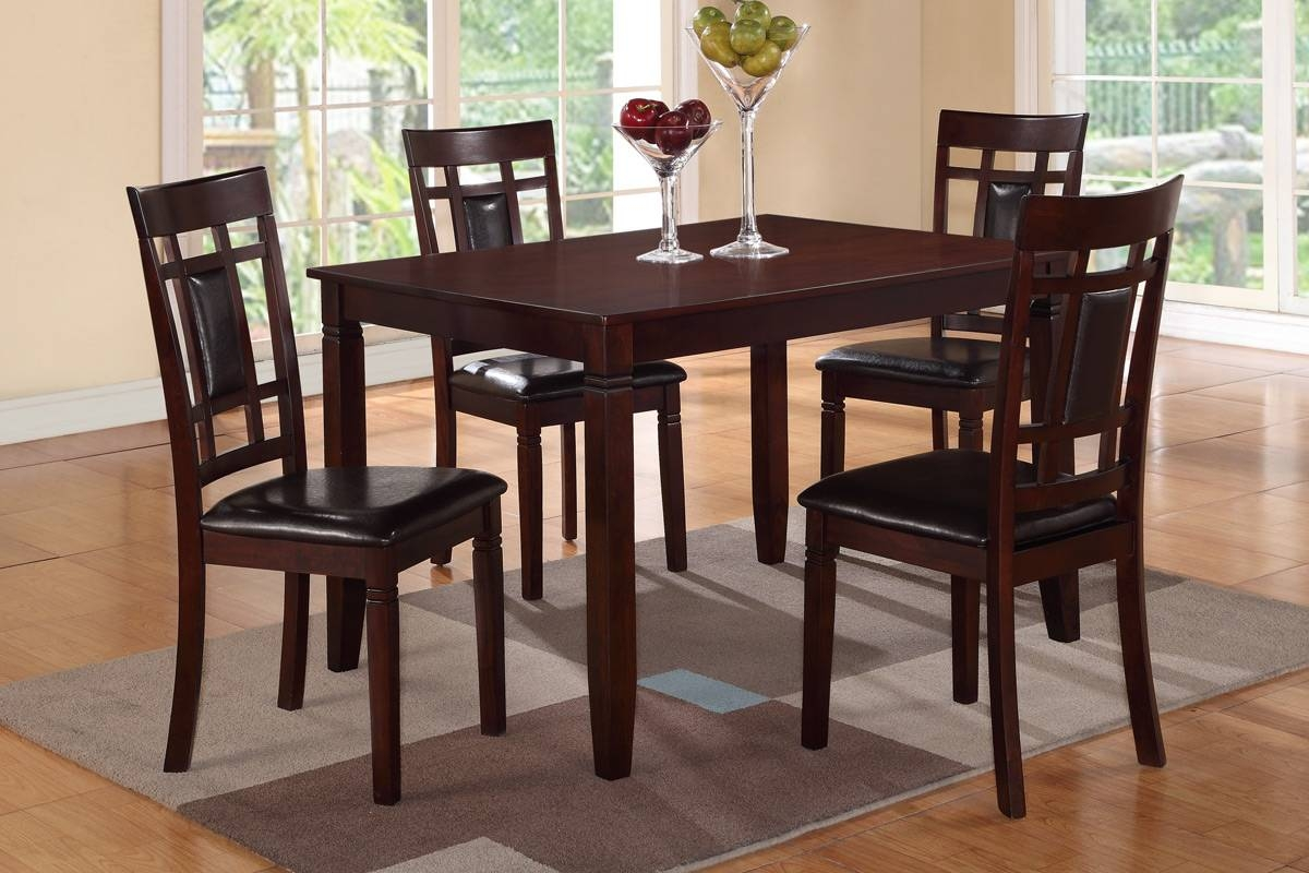 Brown Wood Dining Table And Chair Set - Steal-A-Sofa Furniture for Dining Table With Sofa Chairs (Image 8 of 15)