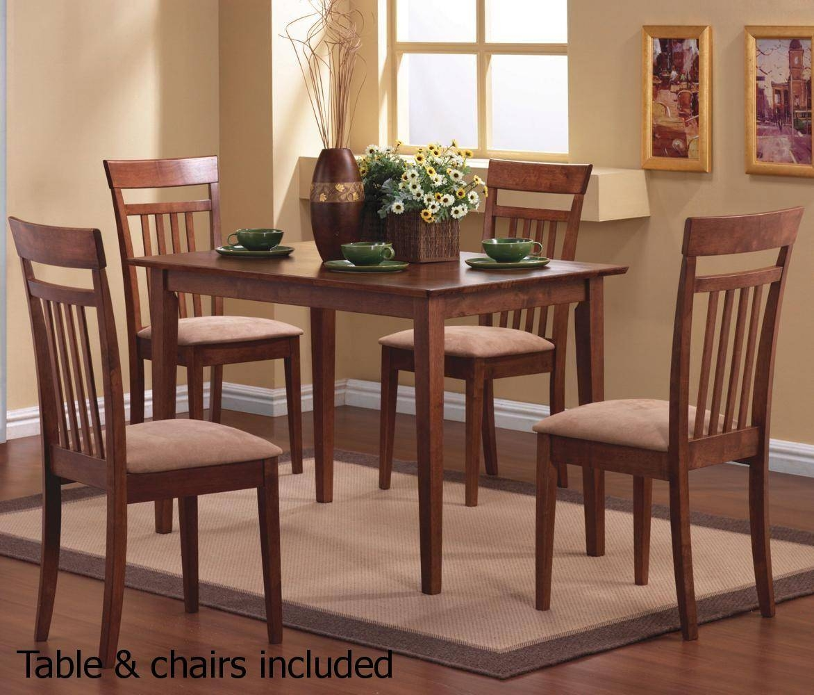 Brown Wood Dining Table And Chair Set - Steal-A-Sofa Furniture with Dining Table With Sofa Chairs (Image 9 of 15)