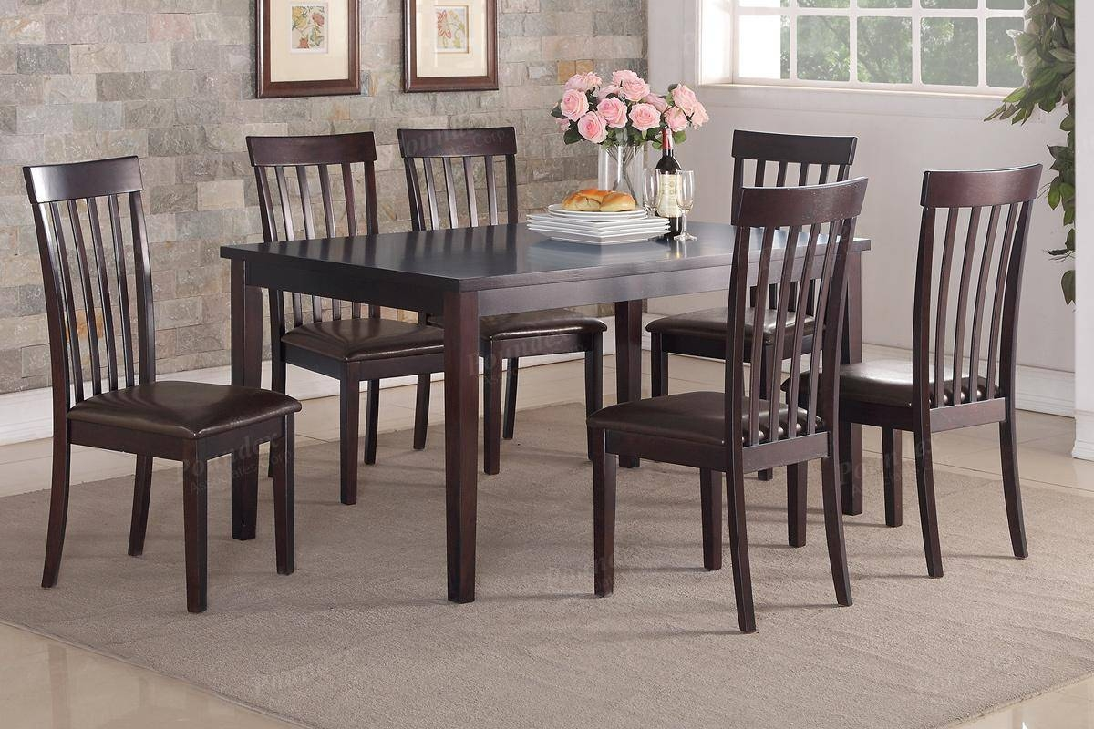 Brown Wood Dining Table And Chair Set - Steal-A-Sofa Furniture within Dining Table With Sofa Chairs (Image 10 of 15)