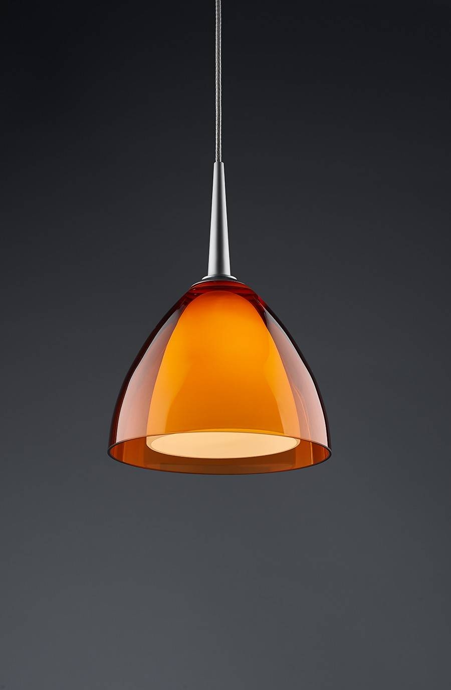 Bruck Lighting Rainbow 2 Pendant Orange Glass 221725 inside Orange Glass Pendant Lights (Image 3 of 15)