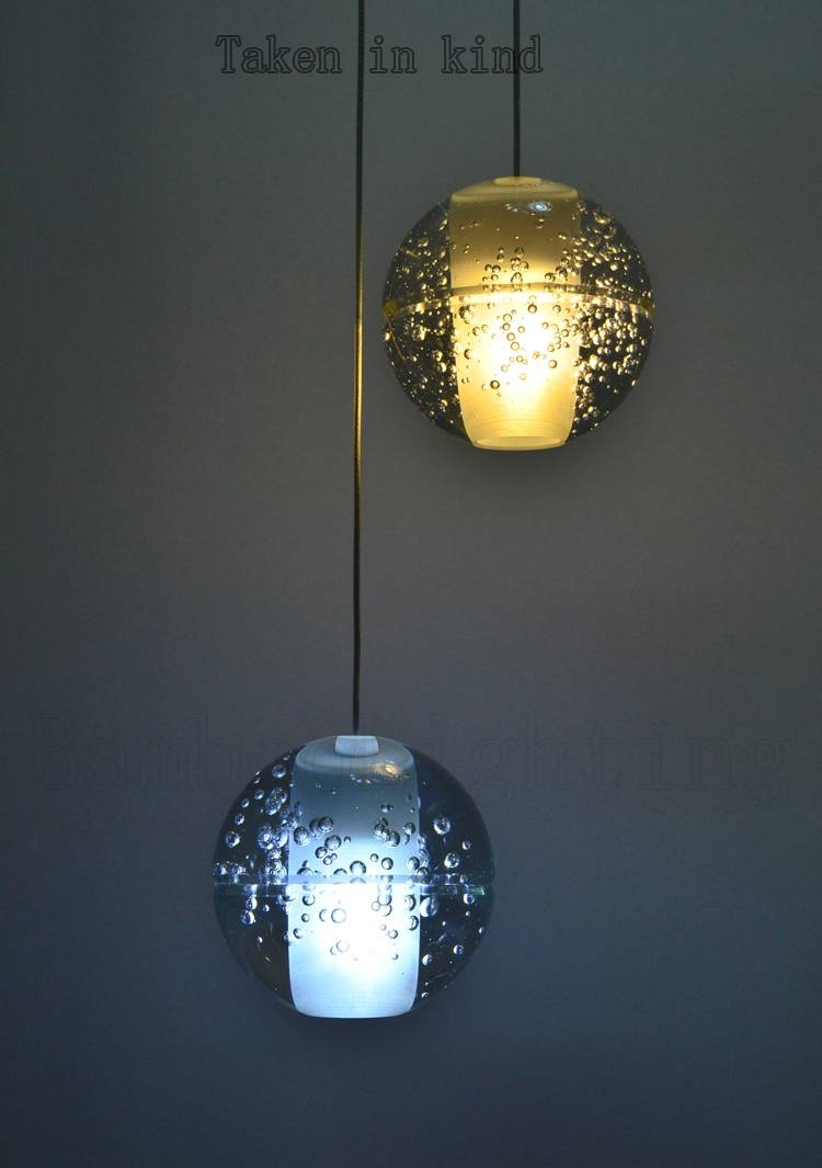 Bubble Glass Pendant Light – Aneilve in Bubble Glass Pendant Lights (Image 3 of 15)