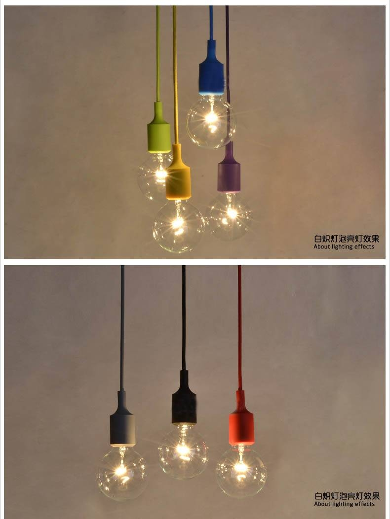Bulb Vase Picture - More Detailed Picture About 100Cm Cord Socket in Pendant Lights With Coloured Cord (Image 2 of 15)