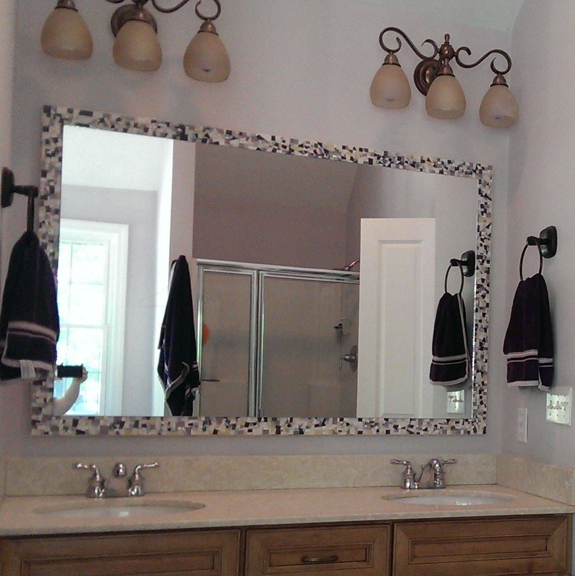 Buy A Hand Made Large Mosaic Bathroom Wall Mirror, Made To Order Throughout Large Mosaic Mirrors (View 3 of 15)