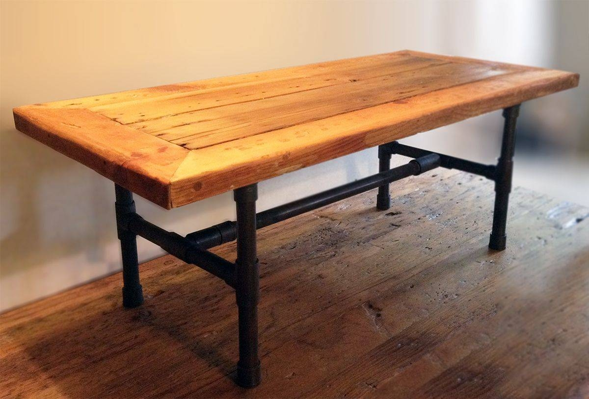 Buy A Handmade Reclaimed Wood Pipe Leg Coffee Table, Made To Order pertaining to Handmade Wooden Coffee Tables (Image 1 of 15)