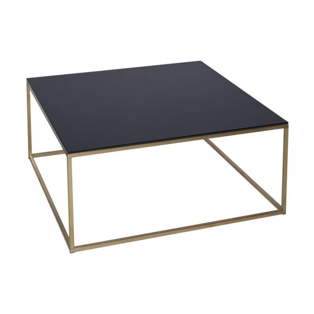 Buy Black Glass And Metal Square Coffee Table From Fusion Living Intended  For Glass And Black
