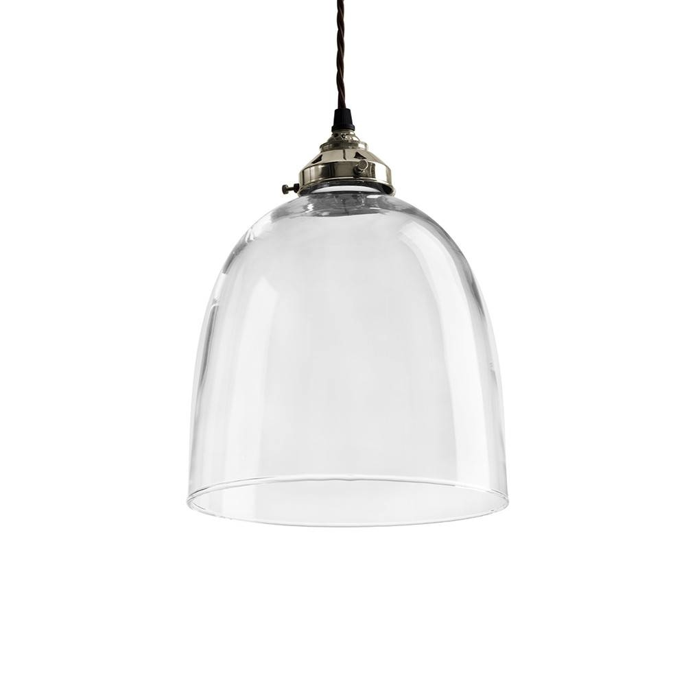 Buy Old School Electric Blown Glass Bell Pendant - Nickel - Large in Blown Glass Kitchen Pendant Lights (Image 8 of 15)