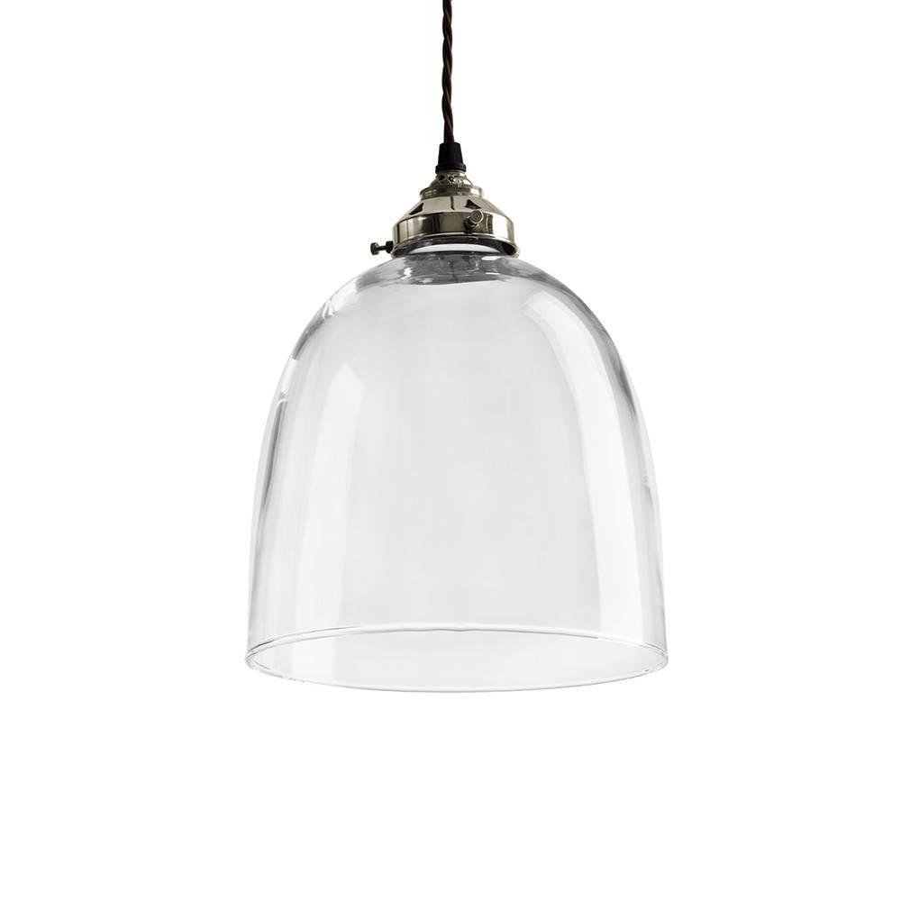 Buy Old School Electric Blown Glass Bell Pendant – Nickel – Large Regarding Blown Glass Australia Pendant Lights (View 9 of 15)