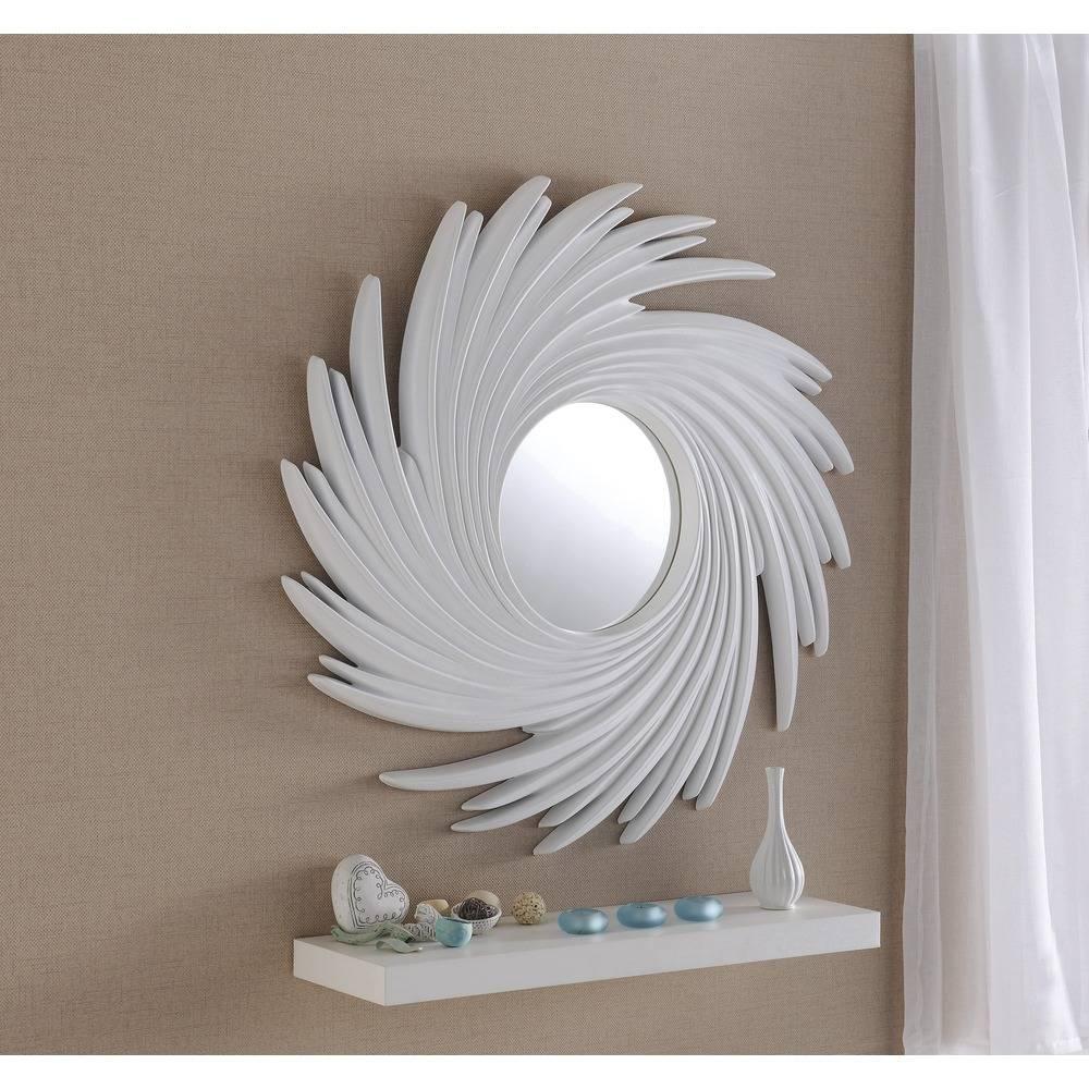 Buy Rocco White Swirl Round Mirror | Select Mirrors throughout White Round Mirrors (Image 5 of 15)