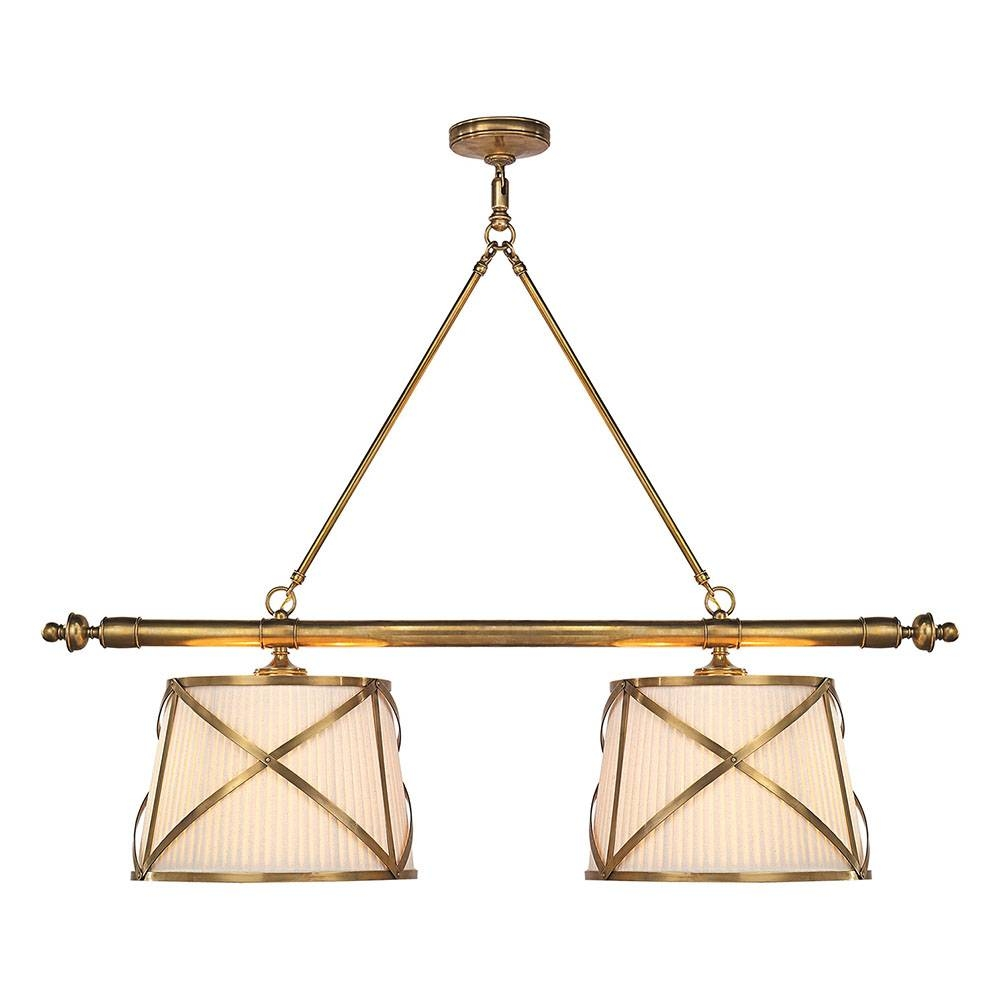 Buy The E. F. Chapman Grosvenor Linear Double Pendantvisual in Grosvenor Lights Pendants (Image 3 of 15)